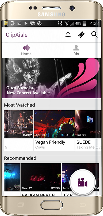 Live music and concert recording App ClipAisle on Android