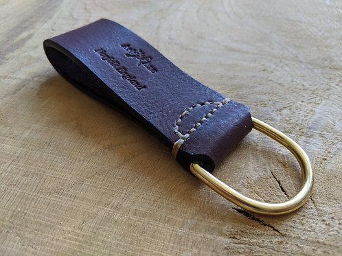 Handstitched leather belt dangler