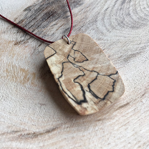 Spalted Beech Handcrafted Pendant