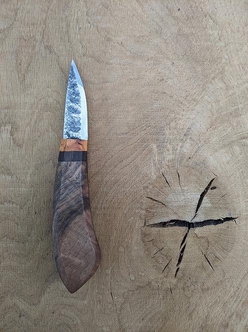 Figured English walnut knife