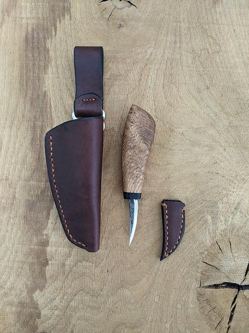 Ancient oak knife set