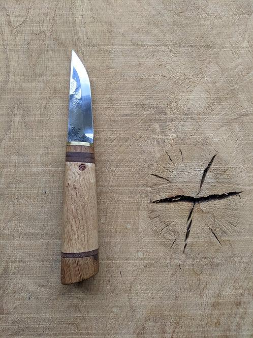 Oak & Leather knife set