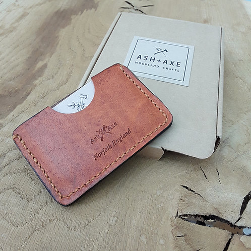 Double sided leather wallet