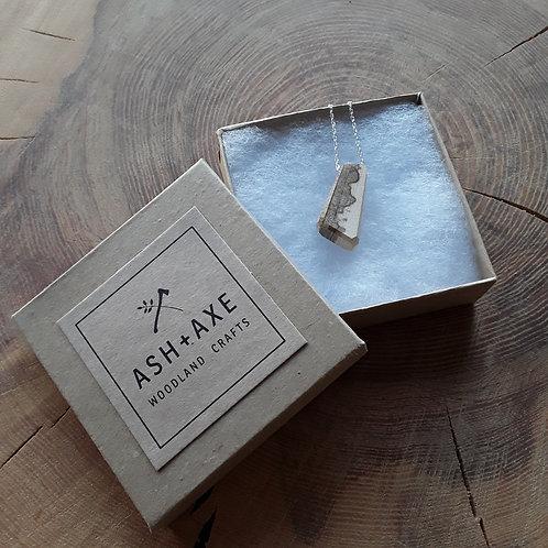 English Ash silver chain