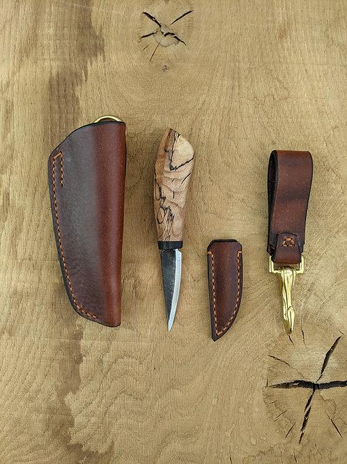 Spalted beech knife set