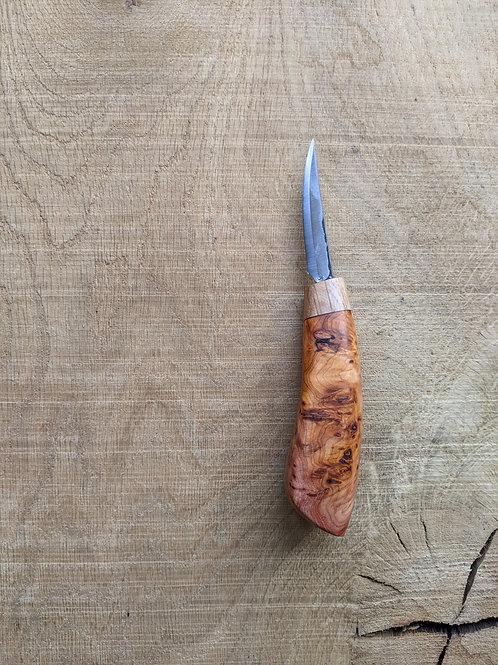 English Yew burr knife