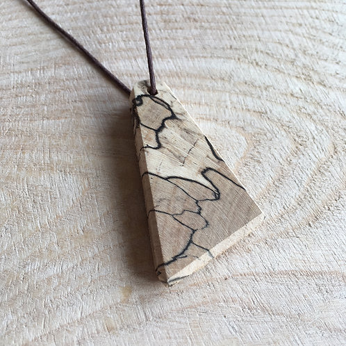 Spalted Beech Handcrafted Angles Pendant