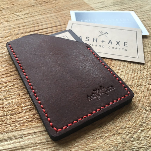 Handcrafted full grain leather card holder