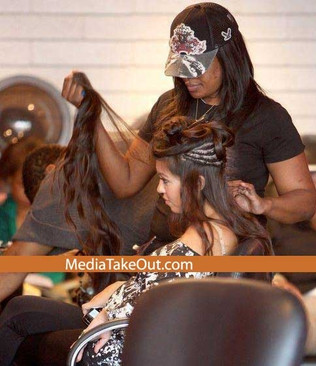 Kardashian et sa presque vraie chevelure