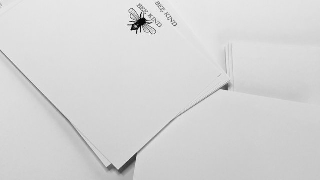Note cards set 'Bee Kind'  A6 cards and envelopes