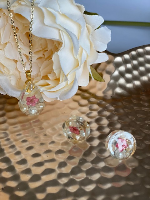 Pink Forget Me Not set