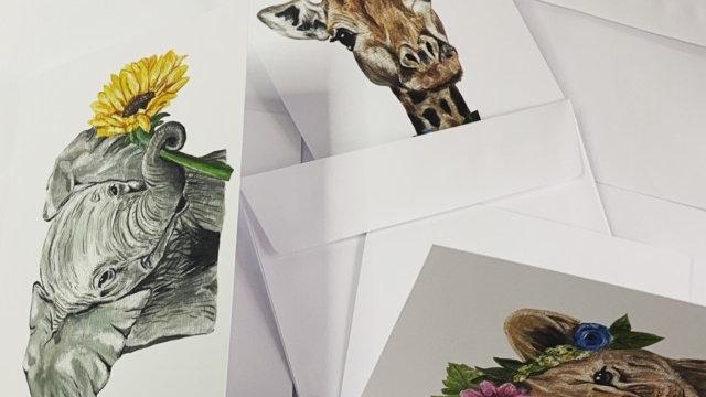 Safari Blank Greeting Cards
