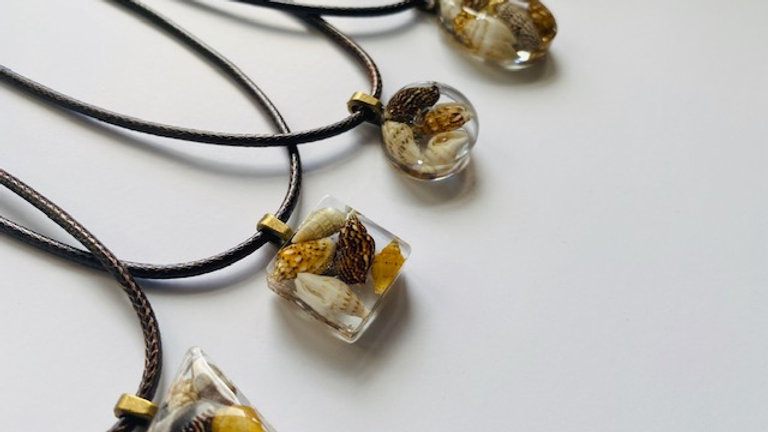 Resin Seashell Necklaces