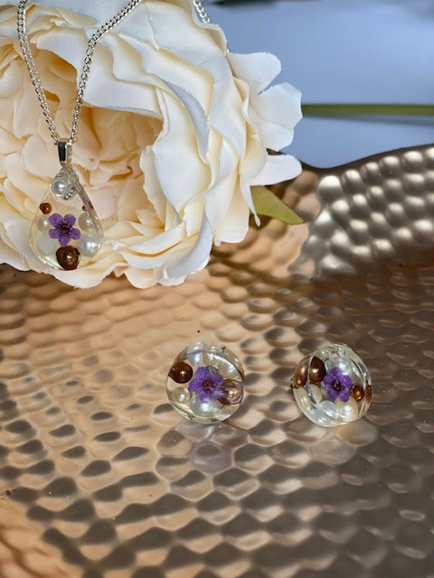 Purple Forget Me Not set