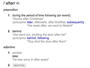 After: a very tricky word