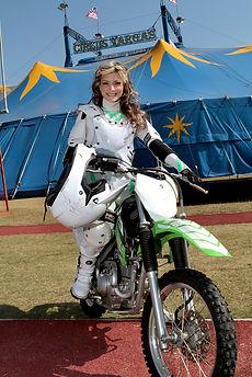 female globe of death rider