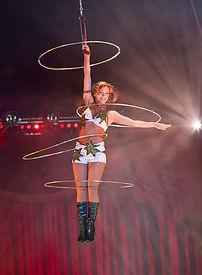 aerial hula hoop act Getti