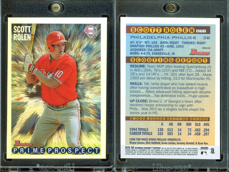 2002 Bowman Chrome - Reprints Refractors #BCRSR
