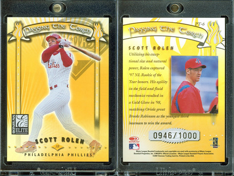 2001 Donruss Elite - Passing the Torch #PT-6 SN1000