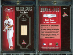 2005 Donruss Classics - Dress Code Bat #CD-23 MEM, SN100