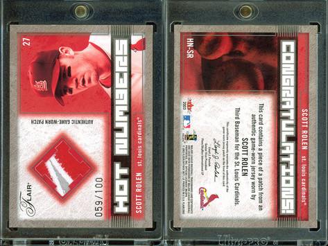 2003 Flair - Hot Numbers Patch #SR MEM, SN100