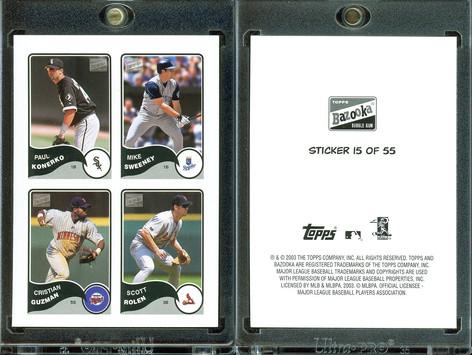 2003 Bazooka - 4-on-1 Stickers #15