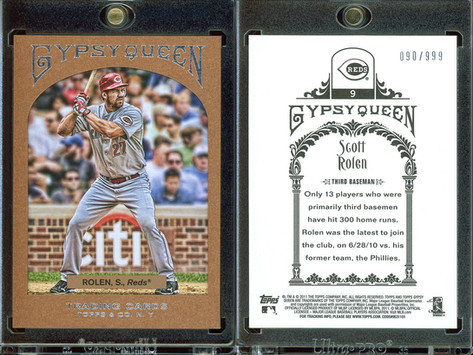 2011 Topps Gypsy Queen - Framed Paper #9 SN999