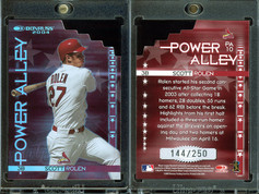 2004 Donruss - Power Alley Red Die Cut #PA10 SN250