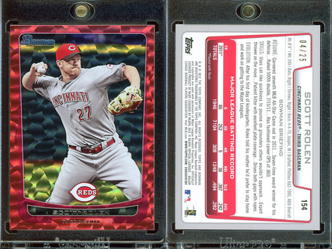 2012 Bowman - Silver Ice Red #154 SN25