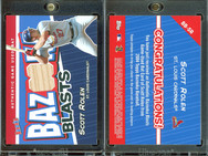 2004 Bazooka - Blasts Bat Relics #BB-SR MEM