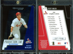2005 Donruss - Production Line Slugging #PL-9 SN598
