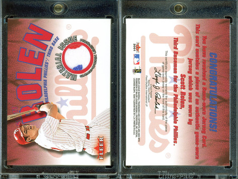 2001 Fleer Genuine - Material Issue #NNO