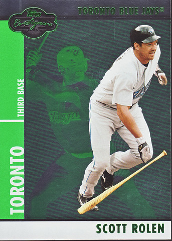 2008 Topps Co-Signers -Silver Green #49a Scott Rolen SN200