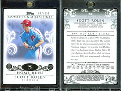 2008 Topps Moments & Milestones #73-5 SN150