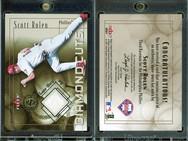 2001 Fleer Authority - Diamond Cuts Memorabilia #NNO MEM White, PR240