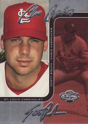 Silver Red #78b Chris Carpenter / Scott Rolen SN100