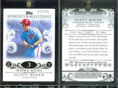 2008 Topps Moments & Milestones #73-3 SN150