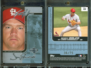 2006 Topps Co-Signers - Changing Faces Silver Blue #13a SN75