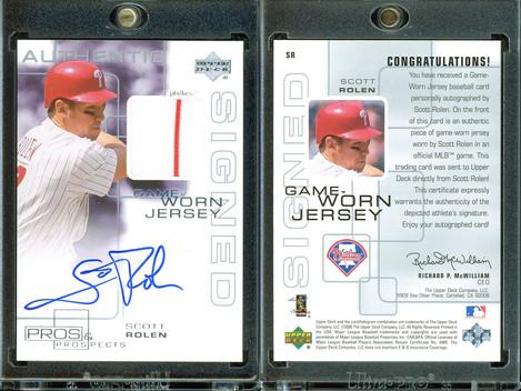 2000 Upper Deck Pros & Prospects - Game Jersey Autograph #SR AU, MEM