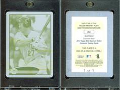 2012 Topps Mini - Printing Plates Yellow #255 SN1