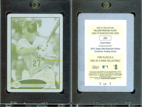 2012 Topps Mini - Printing Plates Yellow #255 SN1