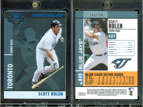 2008 Topps Co-Signers - Silver Blue #49a SN250