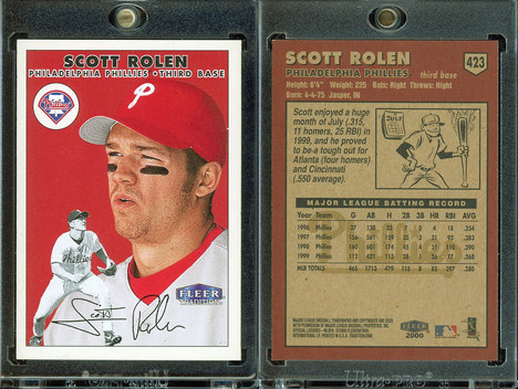 2000 Fleer Tradition #423