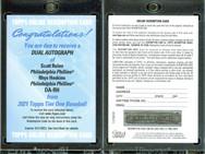 2021 Topps Tier One - Dual Autographs #DA-RH AU, SN25 Redemption