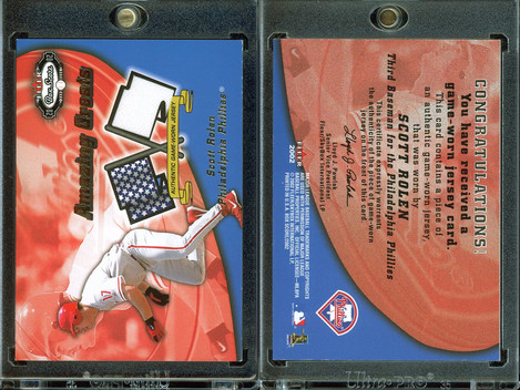 2002 Fleer Box Score - Amazing Greats Single Swatch #12 MEM