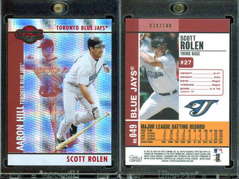 2008 Topps Co-Signers - Hyper Plaid Red #49b SN100