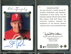 1998 SP Authentic - Chirography #SR AU