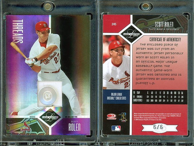 2004 Leaf Limited - Threads Button #245