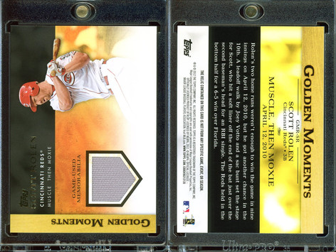 2012 Topps - Golden Moments Relics #GMR-SR MEM Jersey