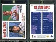 1998 Collector's Choice #261 TOP VAR Diamond shaped hologram on back